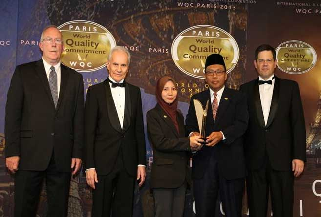 World Quality Commitment Award in Platinum Category by BID, Paris