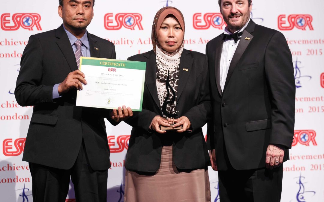 ESQR's Quality Achievements Award, London, United Kingdom